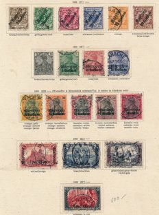 German Colonies - 1894-1910 - advanced collection in old Schaubek album with Morocco Michel 1 - 19