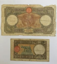 Italy - lot of 40 banknotes - Kingdom of Italy and Italian Republic