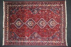 Very beautiful SHIRAZ carpet, IRAN, Hand-knotted, 20th, 307 x 221 cm