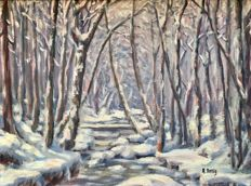 Alfred Aelig - Swiss (1898-1980) - Forrest in winter