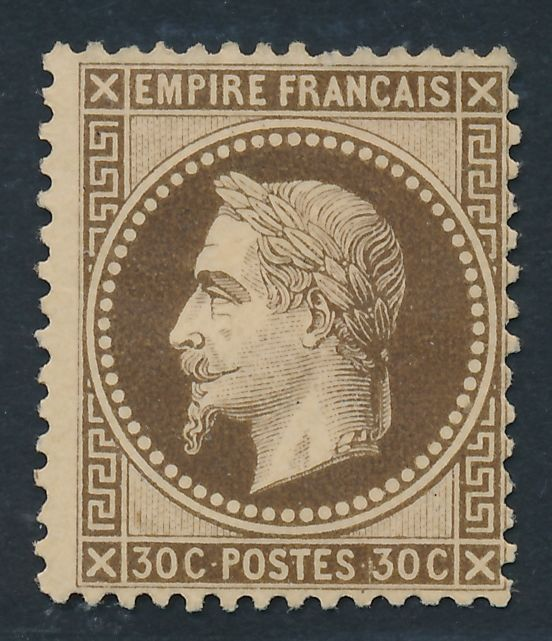 France 1867 - brun 30 cent signed CALVES - Yvert 30