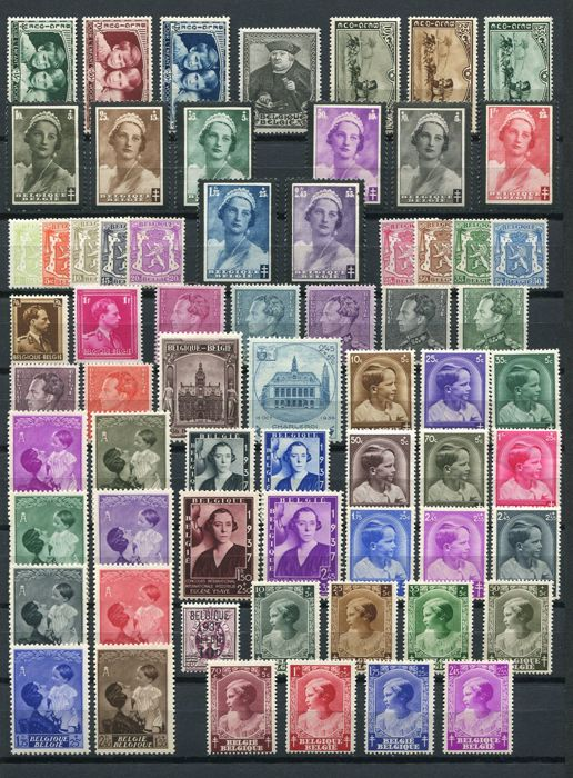 Belgium 1935/1937 - 3 complete years, without blocks - OBP 404/465