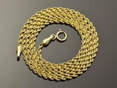 "18k Gold Necklace. Chain ""Cord"" - 45.5 cm"