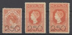 The Netherlands 1920 - Clearance issue, including plate error - NVPH 104/105 + 105 P