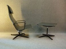 Charles & Ray Eames for Herman Miller - Eames Aluminum Group Lounge Chair (EA124) and Ottoman (EA125)