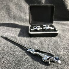 Original Jaguar cufflinks and letter opener.