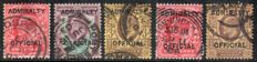 Great Britain Official stamps 1903/04  - Admiralty overprints  selection.