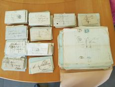 France - Lot of 400 prephilatelic letters, first half of the 19th century