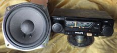 Car radio PHILIPS model 22AN563/93 with speakers from 1978