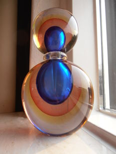Oball Murano - perfume decanter bottle in Sommerso glass