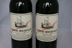1993 Chateau Beychevelle, Saint-Julien 4eme Grand cru classe - 2 bottles (75cl)