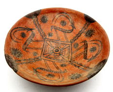 Indus Valley Painted Terracotta Bowl depicting Deer -  188x49 mm