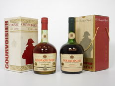 2 bottles Courvoisier *** Luxe and VSOP fine champagne - old bottlings 1960s Cognac Excellent Condition