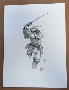 Genet, Frédéric - original Illustration - Samurai