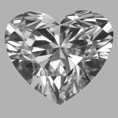 0.52ct Heart Brilliant Diamond  D IF  GIA  - Original image- serial# WD-2336