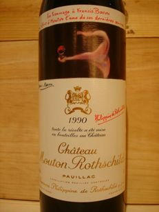 1990 Château Mouton-Rothschild, 1er Grand Cru Classe, Pauillac – 1 bottle (0.75 l)