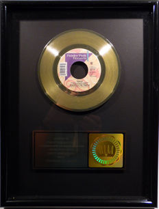 "Prince - Thieves in the Temple -  7"" US RIAA Sales Music Single Record Award gold record (  golden )"