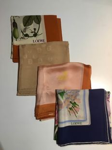 Loewe - Pack of four scarves