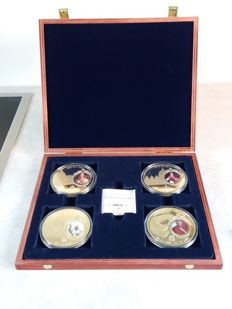 Vatican - 4 commemorative medals 2011 of 4 popes, in cassette