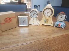 Collection of table clocks with musical mechanism from the 50s/60s Germany / France / Switzerland.