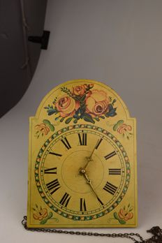 """Wooden """"Schwarzwald"""" wall clock - Germany - early 20th century"""