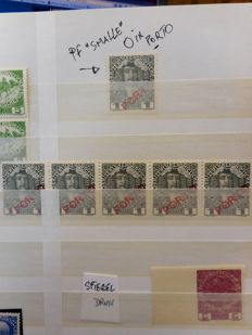 Austria 1935/1946 - Specialised collection with print and plate flaws, imperforate stamps, etc.