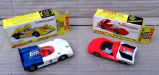 Dinky Toys - Scale 1/43 - McLaren CanAm M8A No.223 and Fiat Abarth 2000 No.202