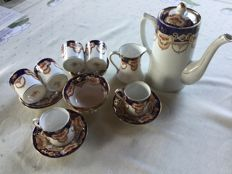 Royal Albert, after dinner coffee cups with sugar bowl and cream jug - 15x
