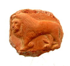 Roman Ceramic Seal - Lion - 60 mm