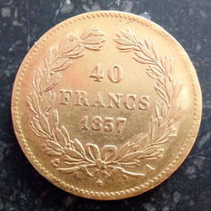 Frankrijk - 40 Francs 1837 A (Paris) - Louis Philippe I - Goud