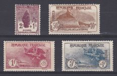 France 1926/27 - 3rd series for Orphans with Bollaffi certificate - Yvert no. 229-232