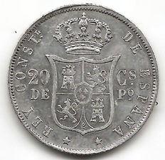 Spain, 50 Centavos, Philippines, 1885, Alfonso XII with Sideburns (1 coin)