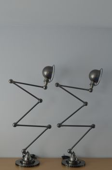 Jean-Louis Domecq for Jieldé - 2 identical fantastic 5-arm floor lamps