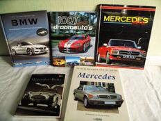 From collection - 5 automobile books - Mercedes - BMW - 1001 droomauto's -