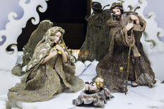 Christmas nativity scene - Joseph, Mary and baby Jesus