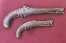 2 pedreneira pistols, United Kingdom