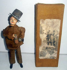 Fernand Martin, France - height 20 cm - the drinker with clockwork motor, early 20th century