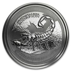 Tchad - 500 francs - Deathstalker - scorpion 2017 - 1 piece 999 silver coin - edition of only 50,000 pieces