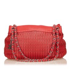 Chanel - Woven Caviar Chain Shoulder Bag