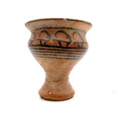 Indus Valley Painted Terracotta Cup with Deer/Antelope motifs - 82x88mm