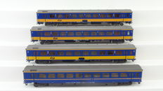 Märklin H0 - 4362/4264/4265 - Royal wagon with 3 ICR carriages of the NS