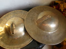 Large Tibetan Buddhist monastery cymbals – Tibet – second half of the 20th century