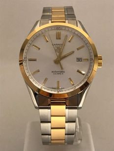 TAG Heuer - Carrera Silver Dial 18ct Yellow Gold and Stainless - WV215D.BD0788 - Homme - 2011-aujourd'hui