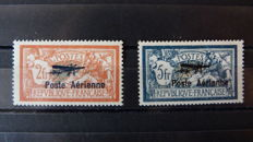 France 1927 - First International Air Show - Yvert PA 1 and 2