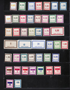 France 1932/1953 - Collection of Dummy and Instructional Stamps  168 stamps between Yvert n° 2 and ft27