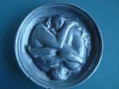 Curiosa; Plate embossed with erotic decoration - 2nd half of the 20th century