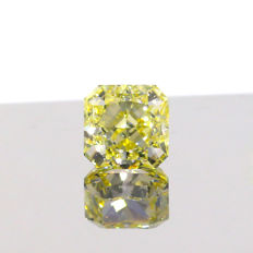 1.04Ct. Natural Fancy Yellow Square shape VS1 Diamond, GIA Certified