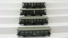 Liliput H0 - 334005/334006/334007/334008 - Set of 4 carriages of the Länderbahn Baden