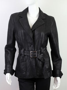 Armani Jeans Leather Jacket Made in Italy