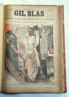 Gil Blas illustré - 3 volumes - 1891 / 1893